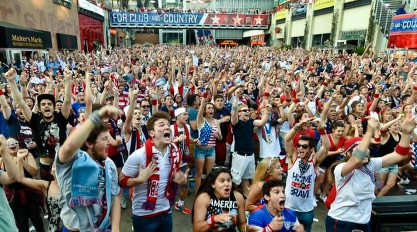 A 2014 World Cup watch party in Kansas City, one of the biggest U.S. TV markets for soccer. Allison Long / Kansas City Star