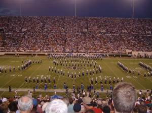 "Jackson State's ""Sonic Boom of the South"" performs at halftime of a Saints vs. Colts NFL preseason game played in Jackson in 2006. The Saints training camp moved to Jackson for two seasons following Katrina. (Photo: Dylan McLemore)"